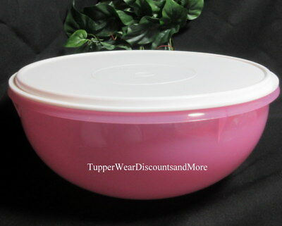 Tupperware NEW PINK Classic Large Serving Fix N Mix Bowl 26 Cup White SEAL