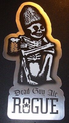 ROGUE FARMS silver Dead Guy Ale STICKER label decal craft beer brewery brewing