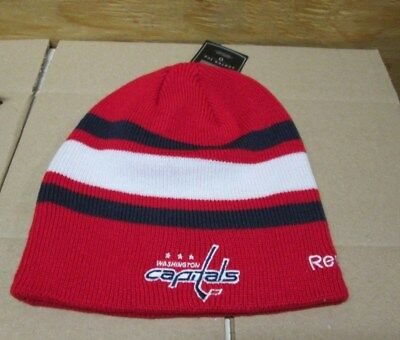 d51117e78c0bf ... promo code for new adult nhl washington capitals embroidered knit  reebok cuffless beanie hat caf42 30c59