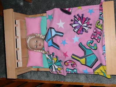 "Cheerleader Fleece Blanket for 18"" Doll Clothes American Girl"