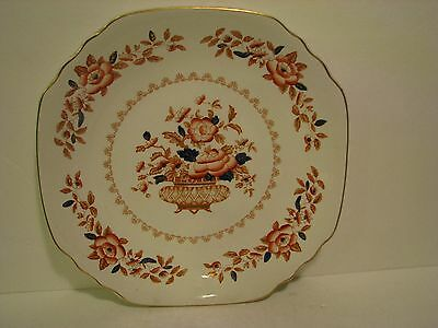 """Crown Staffordshire 12""""  Plate Royal Windsor Scalloped Gold Trim"""