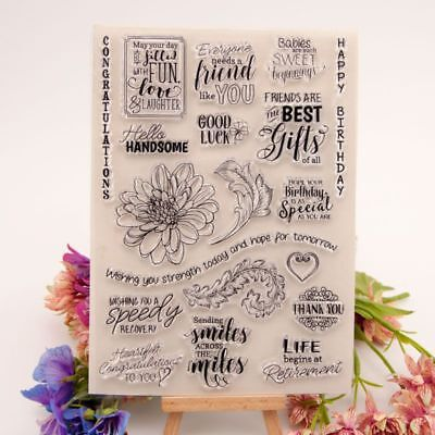 Flower Silicone Clear Stamp Transparent Rubber Stamps DIY Scrapbooking Craft