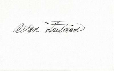 Allan Trautman Signed 3x5 Index Card Return of the Living Dead Puppeteer