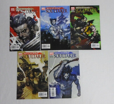 WOLVERINE: SOULTAKER #1-5 * Marvel Comic Lot * 5 Comics - 2005 1 2 3 4 5