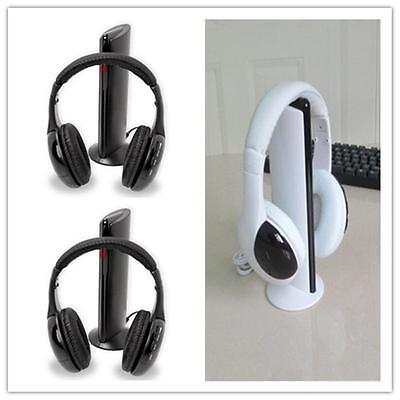 5 in1 Wireless Headphones Headset FM Radio Kit for Mp3 TV CD/DVD PC VCD Player