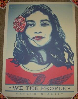 SHEPARD FAIREY poster 18X24 WE THE PEOPLE DEFEND DIGNITY obey giant art print