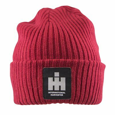 IH INTERNATIONAL HARVESTER LOGO *RED* Knit STOCKING CAP Hat *NEW*