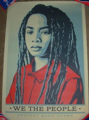 SHEPARD FAIREY poster 18X24 WE THE PEOPLE PROTECT EACH OTHE obey giant art print