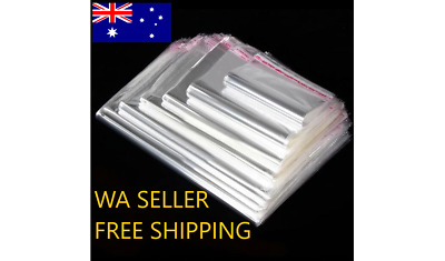50 Quality Poly Bag Clear Transparent OPP Self Adhesive Seal FBA packaging