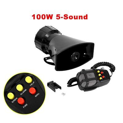NEW 100W 7 Sounds Style Car Warning Siren Alarm Police