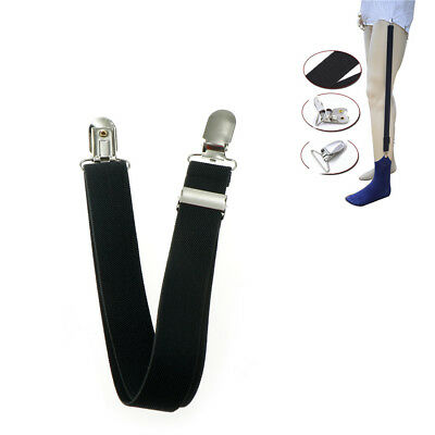 1pc Men Shirt Stays Holder Military Straight Stirrup Suspenders Elastic Unifor H