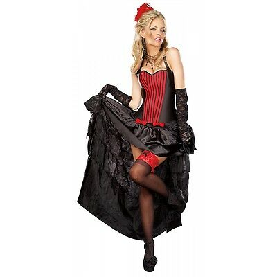 Red Valentina Burlesque Corset With Bustle Skirt Option Aussie Seller Women's Clothing