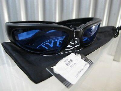 ffa63cda289 NEW W TAGS Global Vision MOTORCYCLE Eyewear Mens Kickback 24 PADDED  Sunglasses