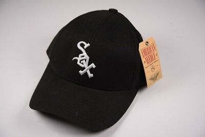 pretty nice 0b089 5aeec AMERICAN NEEDLE Black White Sox Snapback Adjustible Baseball Hat Cap   NEW