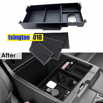 Center Console Storage Box Armrest Glove Tray Case For 2014-2018 Toyota Tundra