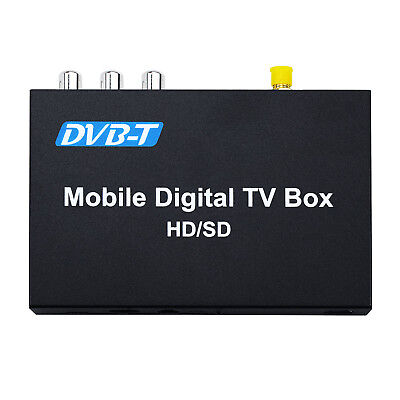 Car Mobile External DVB-T TV Tuner Receiver Freeview Digital TV Box Antenna