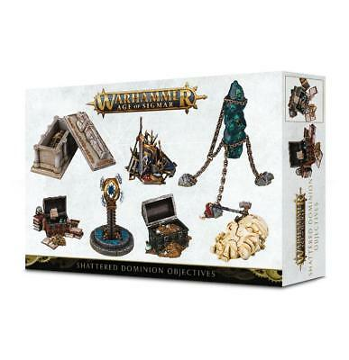 GW AoS 28mm Shattered Dominion Objective Markers Box SW