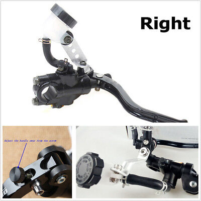 Right Side Motorcycle Aluminum Alloy Hydraulic Cylinder Brake Clutch Lever Black