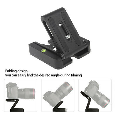 Z-shaped Folding Quick Release Plate Desk Camera Stand Holder for Camera Tripod
