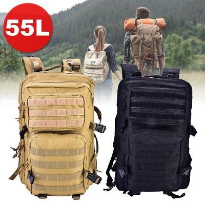 Rucksack Multifunktions Backpack Military Laptopfach 55L Outdoor Trekking Unisex