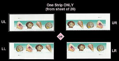 US 5166a Seashells postcard horz plate strip set (4 stamps) MNH 2017