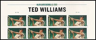 US 4694a MLB Ted Williams imperf NDC header block 8 MNH 2012