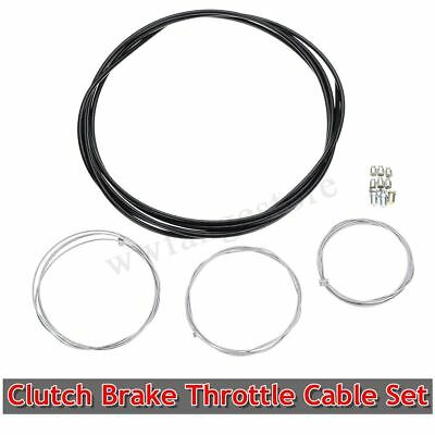 Universal Motorcycle Clutch Brake Throttle Cable Harness Black Outer Cable