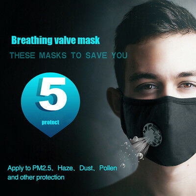1pcs Anti Dust Mask Washable PM2.5 Masks with Adjustable Straps for Women Man