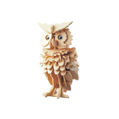 3D Wooden Owl Puzzle Jigsaw Woodcraft Kids Kit Toy Model DIY Construction BS