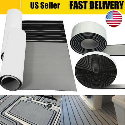 US Marine Boat Flooring Teak Foam Boat Yacht Decking Sheet Mat Pad Self-Adhesive