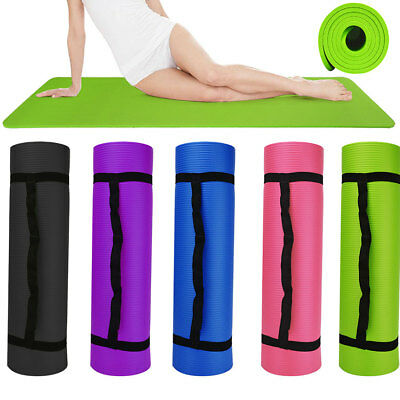 Large Padded Yoga Mat with Carry Handle for Pilates Exercise Gymnastics Gym