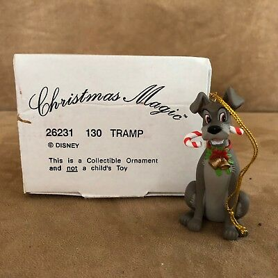 Tramp candy cane Disney Ornament figurine lady and the Christmas magic box 130