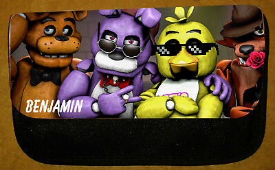 Boys/Girls Personalised Five Nights at Freddy's FNaF Pencil Case -Include Name