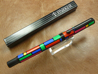 Parker Vector Window Pane Rollerball Pen Usa Made    New In Box  Cool Pattern!!