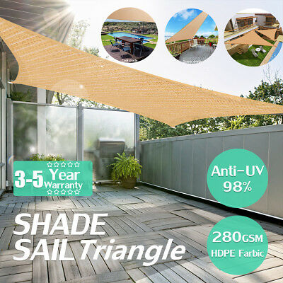 Waterproof 300D 280GSM Sun Shade Sail Outdoor Top Canopy Patio UV Block Cover