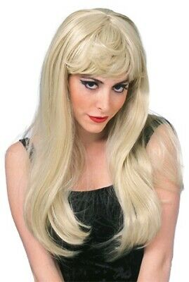 Adult 1970s GLAMOUR WIG Model Blonde Wavy 70s Film Star Pop Disco Diva Mamma Mia