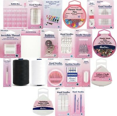 Hemline - Sewing Accessories - Needles, Threads, Pins, Bobbins, Tailors Chalk