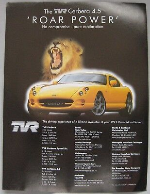 TVR Cerbera 4.5 Original advert