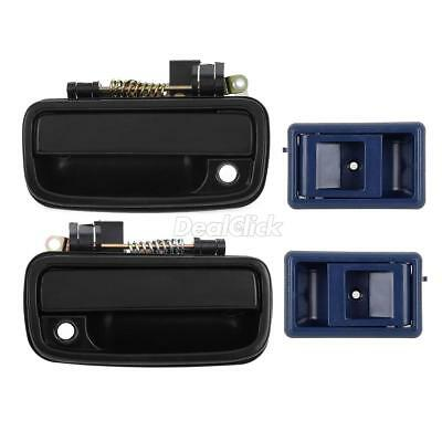 Black Outer Blue Inner Front Left Right Door Handle For 95-00 Toyota Tacoma