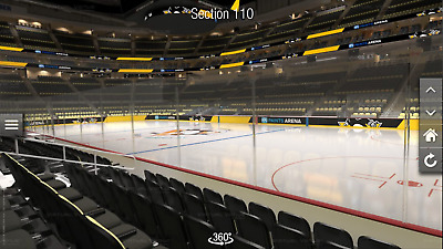 2 - Pittsburgh Penguins vs Florida Panthers Tickets - 01/08 - Sec 110 - Row N