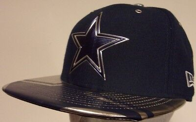93e4ee39459 New Era 59Fifty Dallas Cowboys NFL Football Cap Hat Men s Fitted sz 7  Chrome NWT