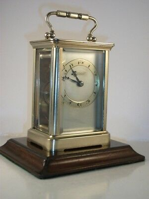 Antique Brass Carriage Clock With Masked Dial. Key.  Full Service Nov. 2018