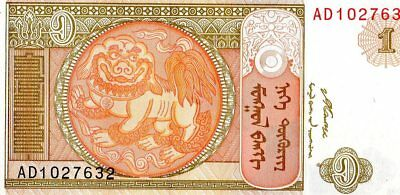 Mongolia 2008 1 Tugrik Currency Unc