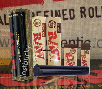 AUTHENTIC RAW ROLLING PAPER KING SIZE COLLECTION MACHINE+PAPERS+TIPS+Tube