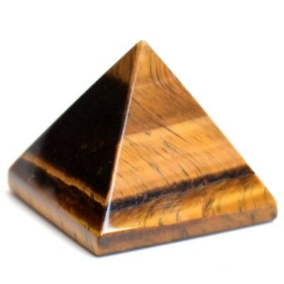 Pyramid Gemstone Natural Tumbled Tiger Eye Stone Crystal Quartz Healing Lot New