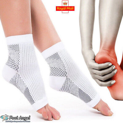 UK Copper Ankle Socks Sleeve Plantar Compression Support Fasciitis Swell Sprain