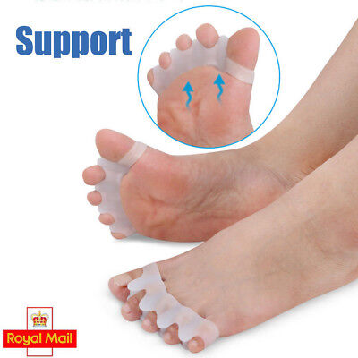 UK 1Pair Gel Toes Separators Stretchers Align Correct Overlapping Toes Orthotics