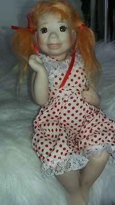"""Kais Melissa McCrory 8"""" Maggie Doll Limited Edition of 2000 All pocelain jointed"""
