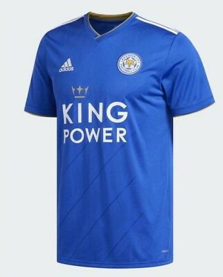 leicester city adidas 2018/2019 home kit shirt brand new size small