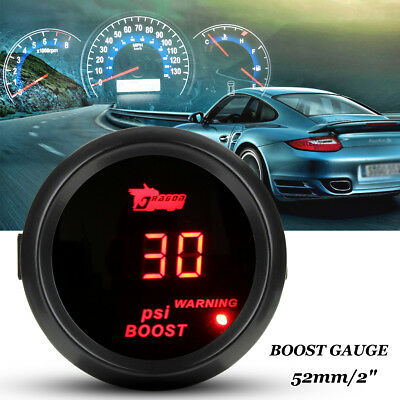 2'' 52mm Ø52 -15~45 PSI LED Gauge Pression Boost Turbo Manomètre MANO Rouge Auto